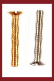 Slotted Oval Head  Machine Screws Steel  DIN 964 Brass